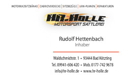 HR HOLLE • Motorsport Sattlerei